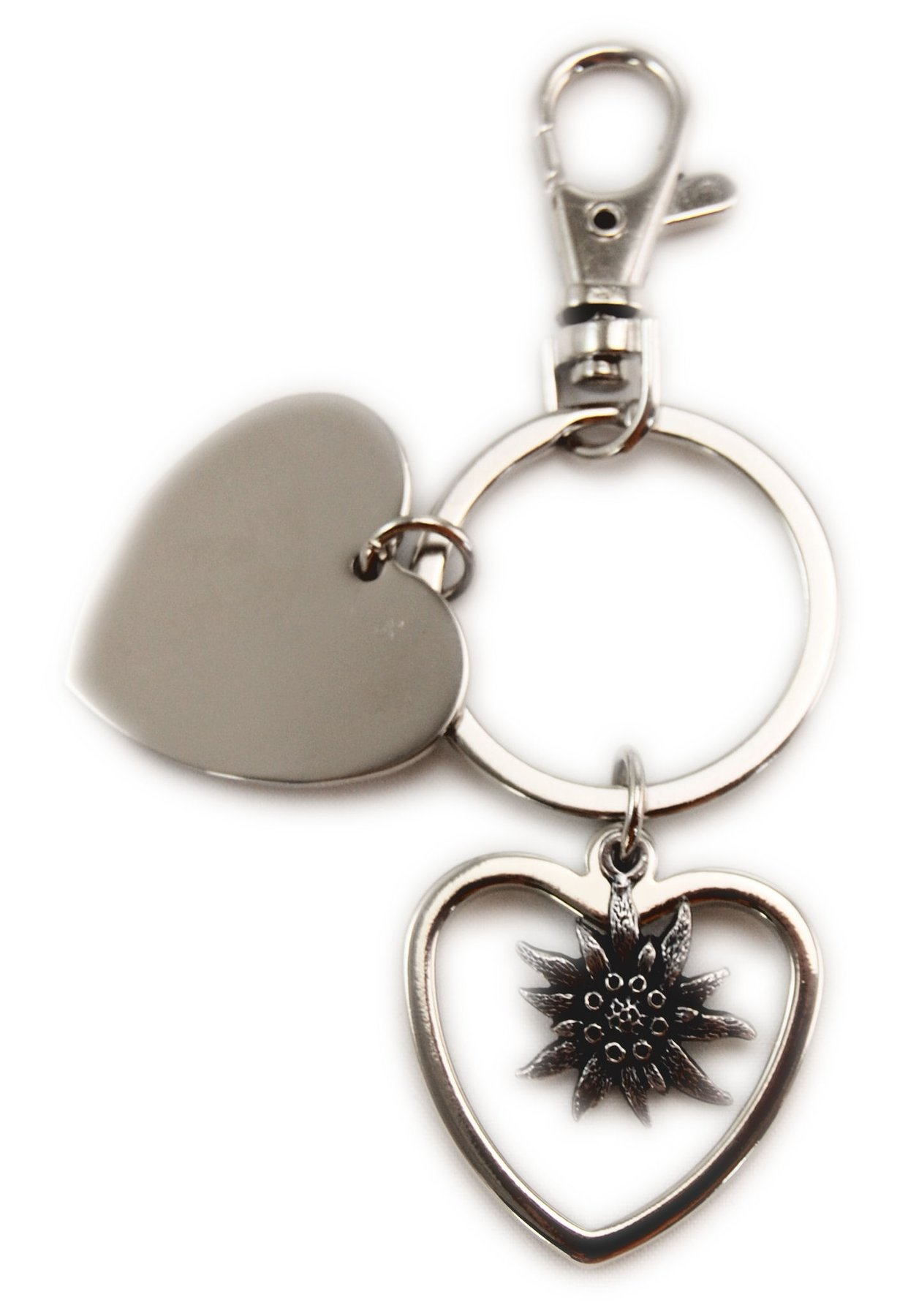 Schlüsselanhänger Herz Doppelt Edelweiss