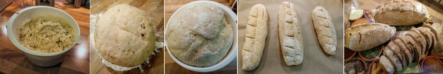 Zubereitung des ruck-zuck Party Brot